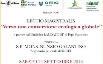 """""""Verso una conversione ecologica globale"""" -Omaggio all'Enciclica """"Laudato si"""""""